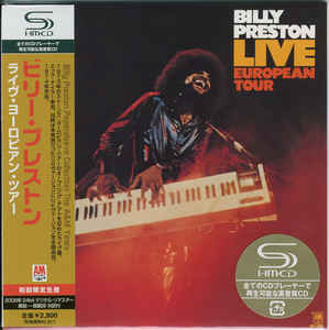 Billy Preston - Live European Tour Japan SHM-CD Mini LP UICY-93458