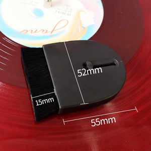 Portable Flexible Wool Brush for LP Vinyl Record Water Sweep