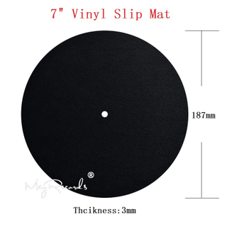 7inch Vinyl Mat Anti Static Felt Mat for Phonograph Turntable Vinyl Record