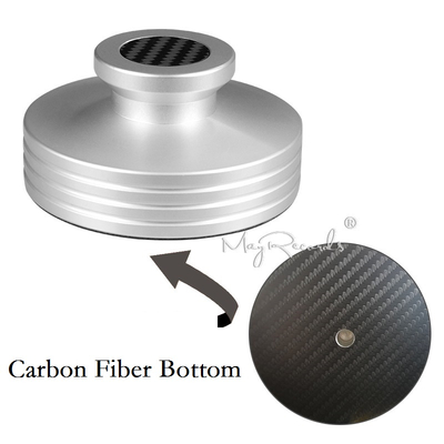 Carbon Fiber Bottom Abum LP Record Clamp Disc Stabilizer Record Weight 334g