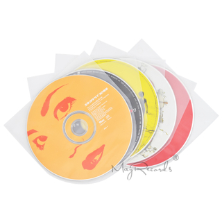 50Clear Antistatic 3 Mil Plastic CD Inner Sleeves For 5inch SHM-CD Mini LP